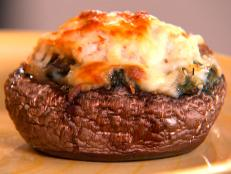 Cooking Channel serves up this Portobello Crab Rockefeller recipe  plus many other recipes at CookingChannelTV.com
