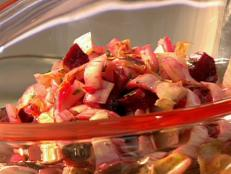 Cooking Channel serves up this Beet and Endive Salad with Garlic and Herb Vinaigrette recipe  plus many other recipes at CookingChannelTV.com