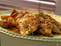 Cooking Channel serves up this Herb-Marinated Grilled Chicken Paillards with Pan Sauce recipe  plus many other recipes at CookingChannelTV.com