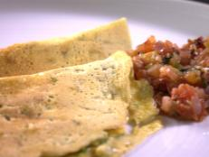 Cooking Channel serves up this Savory Indian Crepes with Tomato-Shallot Chutney recipe  plus many other recipes at CookingChannelTV.com