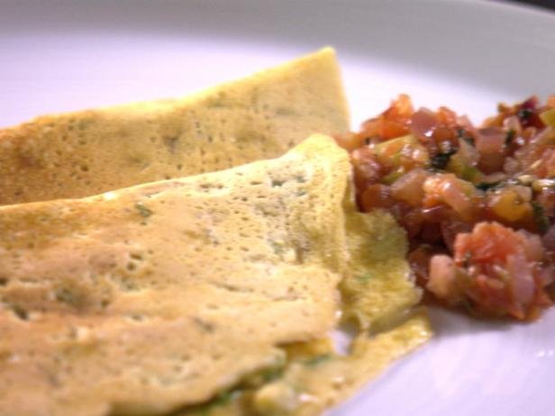 Savory Indian Crepes with Tomato-Shallot Chutney