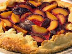 Cooking Channel serves up this Plum Galette recipe from Amy  Finley plus many other recipes at CookingChannelTV.com