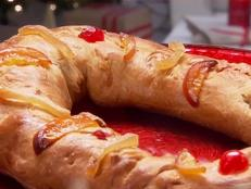 Cooking Channel serves up this Three Kings Bread: Rosca de Reyes recipe from Ingrid Hoffmann plus many other recipes at CookingChannelTV.com