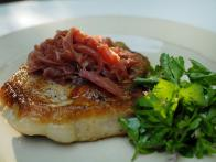 Pork Chops with Red Onion Confit