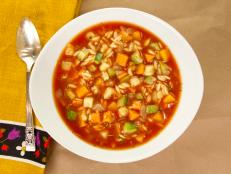 Cooking Channel serves up this Rustic Fall Vegetable Soup recipe from Kelsey Nixon plus many other recipes at CookingChannelTV.com