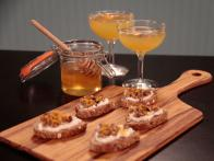 Honey Walnut Goat Cheese Crostini