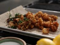 Crispy Rock Shrimp with Lime and Coriander