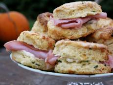 Cooking Channel serves up this Ham and Cheese Biscuits recipe from Josh Kilmer-Purcell  and Brent Ridge plus many other recipes at CookingChannelTV.com