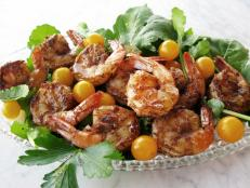 Cooking Channel serves up this Pineapple-Glazed Shrimp recipe from Josh Kilmer-Purcell  and Brent Ridge plus many other recipes at CookingChannelTV.com