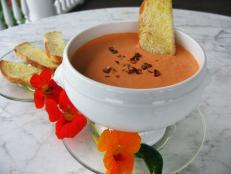 Cooking Channel serves up this Roasted Red Pepper and Goat Cheese Dip recipe from Josh Kilmer-Purcell  and Brent Ridge plus many other recipes at CookingChannelTV.com