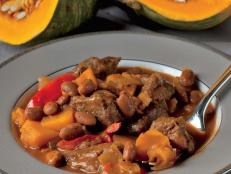 Cooking Channel serves up this Harvest Beef Chili with Pumpkin and Beans recipe from Josh Kilmer-Purcell  and Brent Ridge plus many other recipes at CookingChannelTV.com