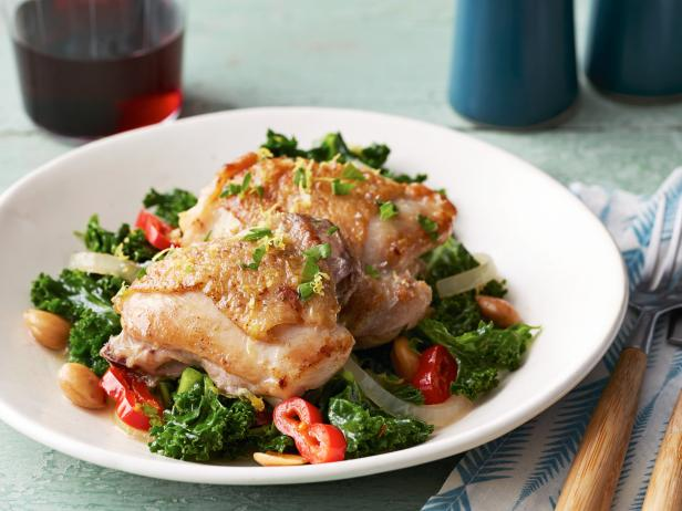 Chicken Thighs with Kale