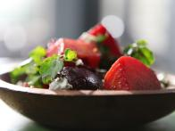 Slow-Roasted Beets with Blue Cheese, Watercress and Toasted Walnuts