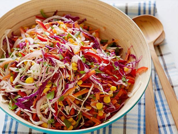 Tangy Coleslaw with Smoked Corn and Lime Dressing