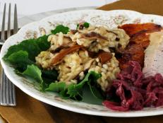 Cooking Channel serves up this Double Mushroom Risotto recipe from Josh Kilmer-Purcell  and Brent Ridge plus many other recipes at CookingChannelTV.com