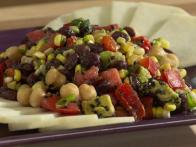Black Bean Chickpea Salad