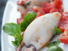 Cooking Channel serves up this Stuffed Calamari recipe from David Rocco plus many other recipes at CookingChannelTV.com