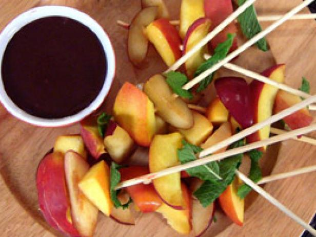 Rainbow Fruit Skewers with Chocolate-Dipped Strawberries