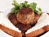 Beer Braised Beef Meatballs with Horseradish Sauce