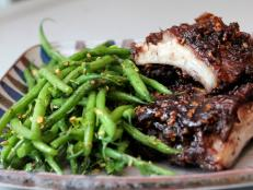 Cooking Channel serves up this Maple Date Short Ribs and Green Beans with Cilantro recipe from Bal Arneson plus many other recipes at CookingChannelTV.com