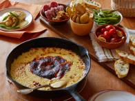 Queso Fundido with Charred Poblanos and Sides