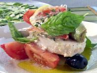 Swordfish Baked in Foil with Mediterranean...
