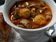 Quimbombo con Carne de Puerco y Bolitas de Platano/Okra Stew with Pork and Plantain Dumplings