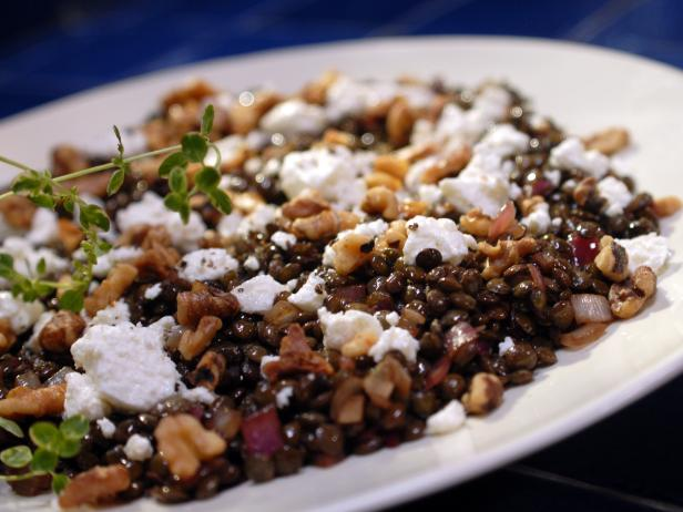 French Lentils with Walnuts and Goat Cheese