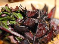 Roasted Beetroot with Sauteed Greens