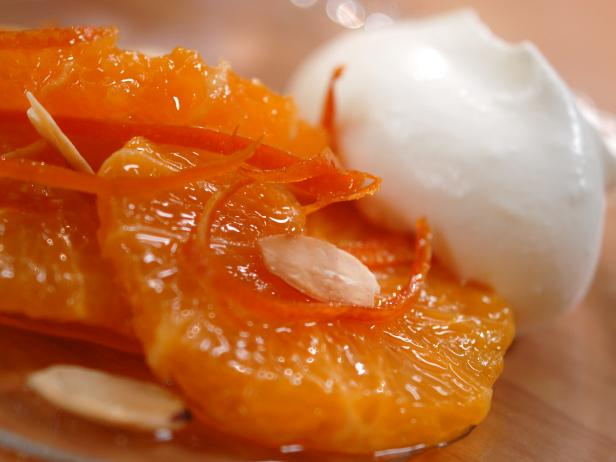 Oranges with Amber Caramel and Candied Zest