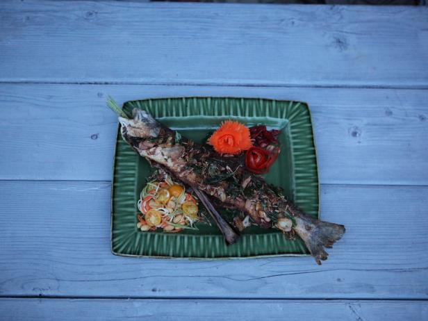 Whole Crispy Thai Fish with Alaskan Som Tum
