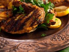Cooking Channel serves up this Tandoori Guinea Hen recipe  plus many other recipes at CookingChannelTV.com