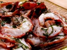 Cooking Channel serves up this Shrimp with Garlic and Basil Oil recipe from Laura Calder plus many other recipes at CookingChannelTV.com