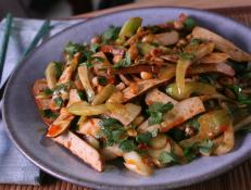 Cooking Channel serves up this Sichuan Tofu Gan and Warm Celery Salad recipe from Ching-He Huang plus many other recipes at CookingChannelTV.com
