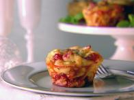 Linguine and Prosciutto Frittatas