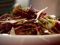 Farfalle Pasta with Beet Vinaigrette and Parsley Pesto