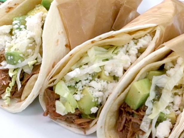 Carne Asada Tacos with Green Salsa