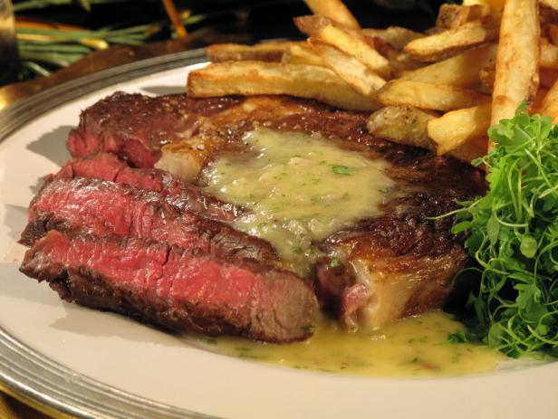 Rib Eye Steak in Beurre Blanc with Duck Fat Fries