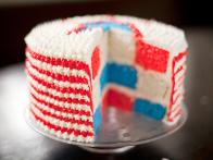 Red, White and Blue Velvet Cake