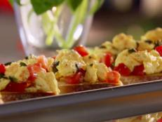 Cooking Channel serves up this Breakfast Bruschetta recipe  plus many other recipes at CookingChannelTV.com