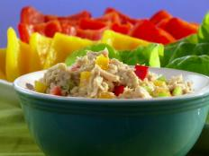 Cooking Channel serves up this Veggie-Loaded Tangy Tuna Salad recipe  plus many other recipes at CookingChannelTV.com