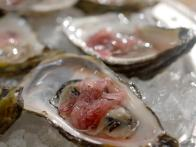 Oysters with Pickled Shallot
