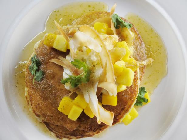 Coconut Pancakes with Ginger-Lime Syrup
