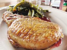 Cooking Channel serves up this Pork Chop with Apple-Cran Gastrique recipe  plus many other recipes at CookingChannelTV.com