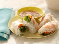 Soft Asian Summer Rolls with Sweet and Savory...