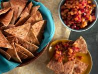 Stone Fruit Salsa with Cinnamon Chips