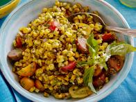 Charred Corn Salad with Basil Vinaigrette