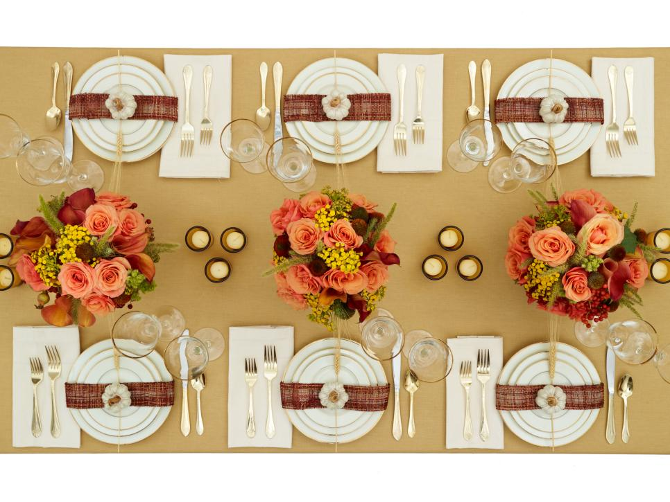 Thanksgiving Table Ideas traditional thanksgiving table decorations : how-to : cooking