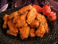 Crispy Chicken Wings with Tsaketa Hot Sauce