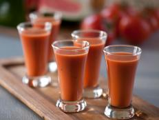 Cooking Channel serves up this Watermelon Vodka Gazpacho recipe  plus many other recipes at CookingChannelTV.com